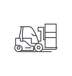 loader line icon concept loader linear vector image
