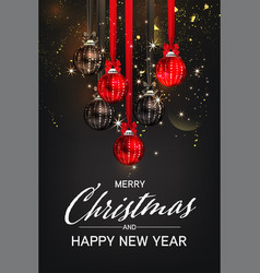 luxury christmas social media golden and black vector image