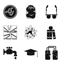 Medical intervention icons set simple style vector