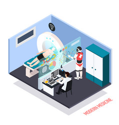 medical technologies isometric composition vector image