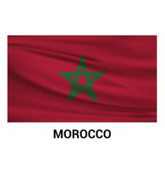 morocco flag design vector image