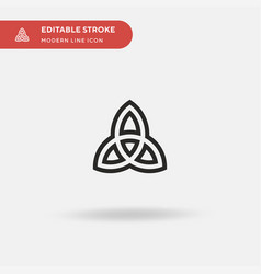 Paganism simple icon symbol vector