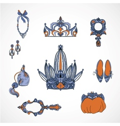 princess accessories vector image