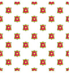 Princess emblem pattern seamless vector