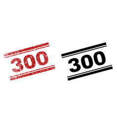 scratched textured and clean 300 stamp prints vector image