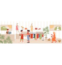 seasonal sales in fashion retail store woman vector image