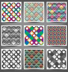 set of the seamless backgrounds with abstract vector image