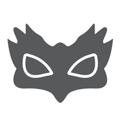 Sex mask glyph icon sex toy and adult bdsm mask vector