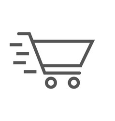 shopping basket icon for web design eps 10 vector image