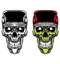 Skull caps bandana vector