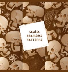 skull seamless pattern dead head crossbones vector image