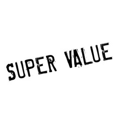 super value rubber stamp vector image