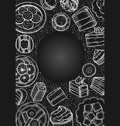 sweets and bakery set vector image