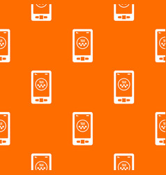 taxi app in phone pattern seamless vector image