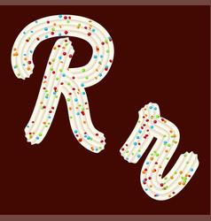 tempting tipography font design 3d letter r of vector image