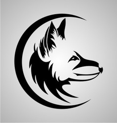 Tribal Fox Head vector image