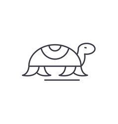 turtle in motion line icon concept turtle in vector image