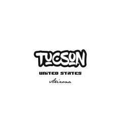 United states tucson arizona city graffitti font vector
