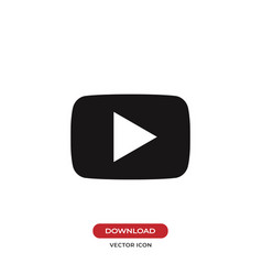 video play button icon vector image
