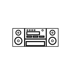Vintage radio stereo vector