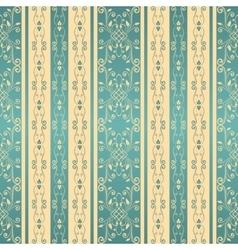Vintage seamless pattern background vector image vector image