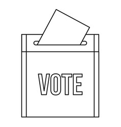 vote box icon outline style vector image