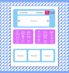 Web page template for online store vector