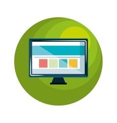 computer desktop computer icon vector image