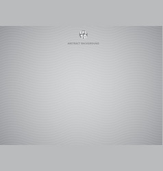 gray abstract background with white wave lines vector image vector image