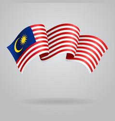 Malaysian waving flag vector