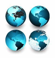 world globe vector image vector image