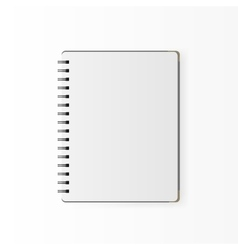 Blank realistic spiral notepad notebook isolated vector image vector image