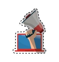 Bullhorn announce device vector image vector image