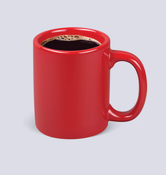 coffee cup isolated realistic 3d vector image vector image
