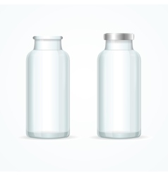 Glass Milk Bottle Set vector image