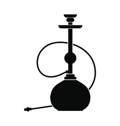 Hookah icon simple style vector image
