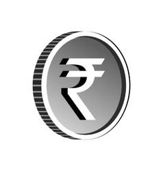 Indian rupee sign icon simple style vector image vector image