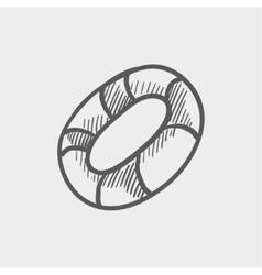Life preserver sketch icon vector image