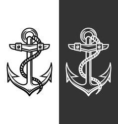 anchor logo vector image