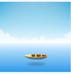 empty boat in the ocean vector image