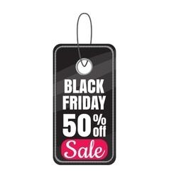 Tag black friday sale discount icon cartoon style vector image vector image