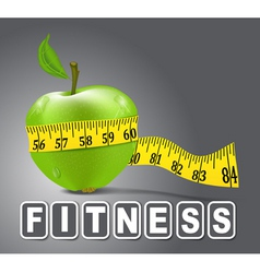 fitness apple vector image vector image