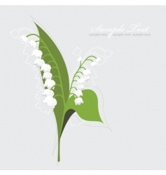 lily of the valley background vector image vector image