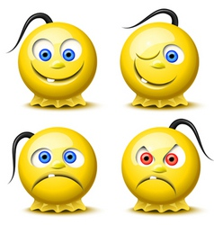 smiley icons vector image vector image
