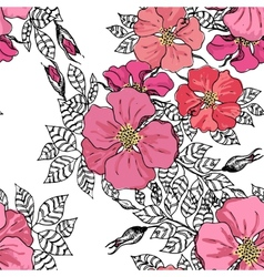 Vintage graphic flower seamless pattern texture vector image vector image