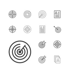 13 opportunity icons vector