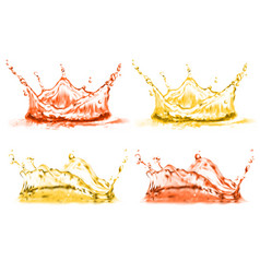 3d realistic set of splashes drops vector image
