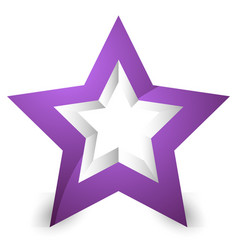 3d star icon element on white with shadow vector