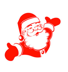 A drawing of santa claus hands are bred in vector