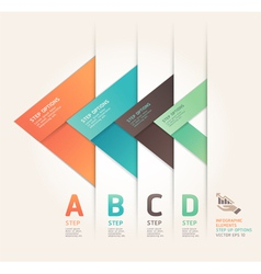 Abstract arrow step options origami style vector image vector image